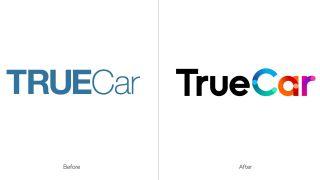 new logo for TrueCar by Pentagram