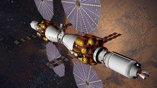 """""""Mars Base Camp"""" space station illustration"""
