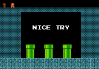 Screen from Mario Royale.