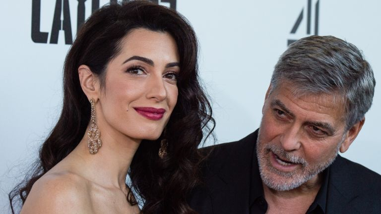 """George Clooney in 'trouble', Amal Clooney and George Clooney attend the """"Catch 22"""" UK premiere on May 15, 2019 in London, United Kingdom"""