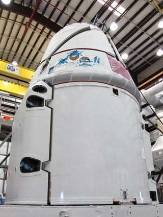 Dragon Spacecraft in Final Processing