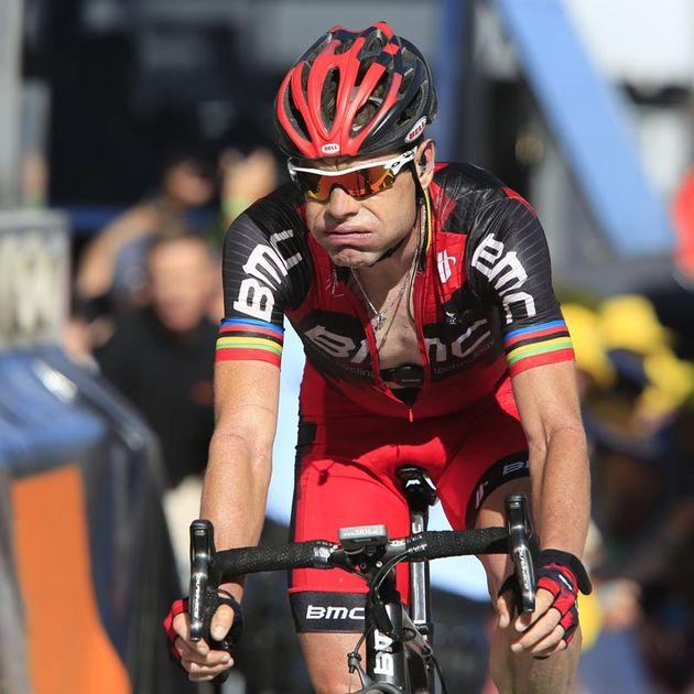 Cadel Evans at finish, Tour de France 2012, stage 11