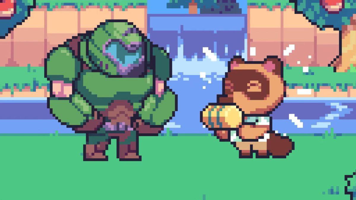 Animal Crossing: New Horizons/Doom Eternal crossover celebrates their shared release day - GamesRadar+