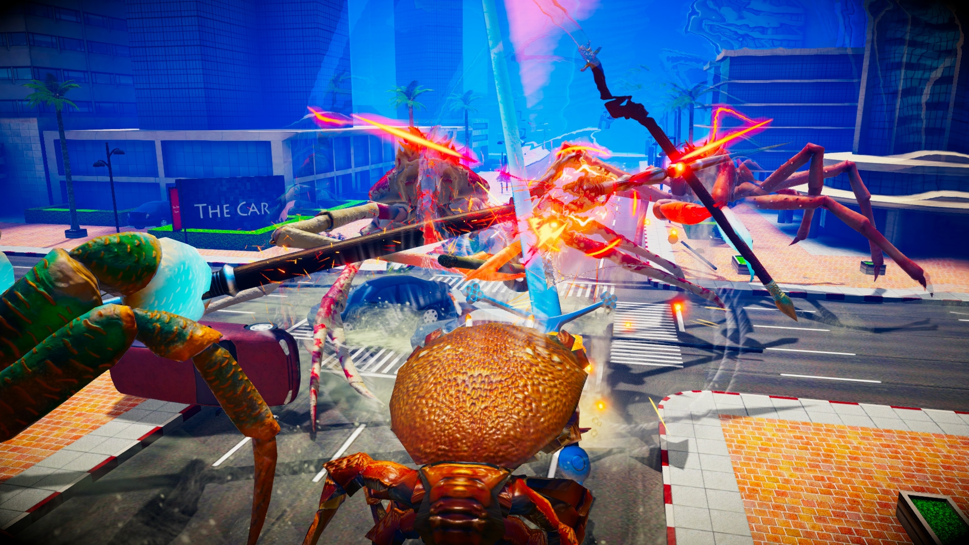 Fight Crab is a game about giant crabs fighting, and it features chainsaws | PC Gamer