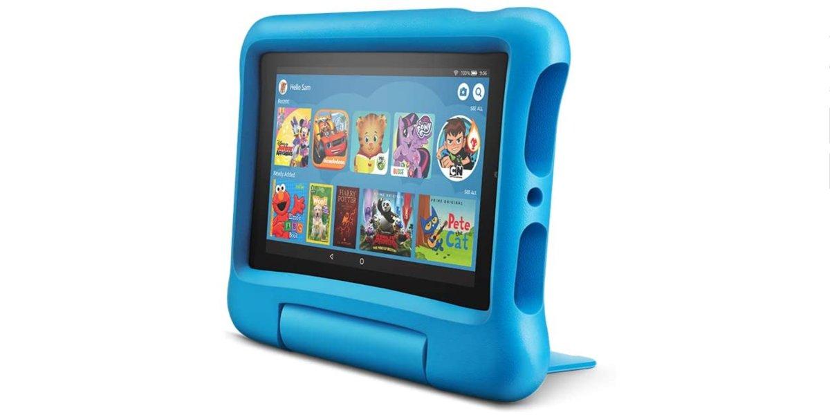 Fire 7 Kids Tablet, 7-Inch Display, 16GB, Blue Kid-Proof Case