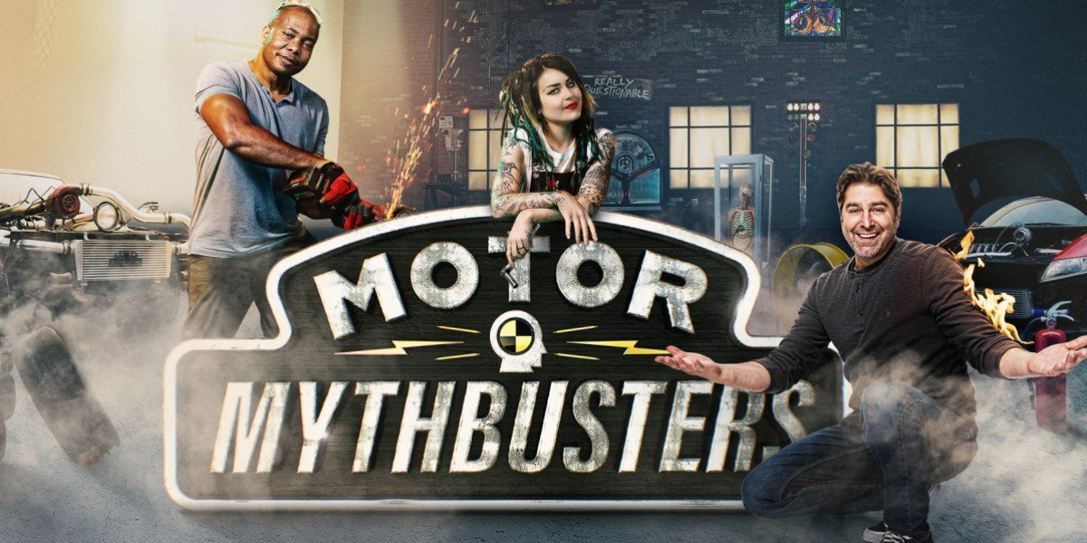 tory, faye and bisi on motor mythbusters