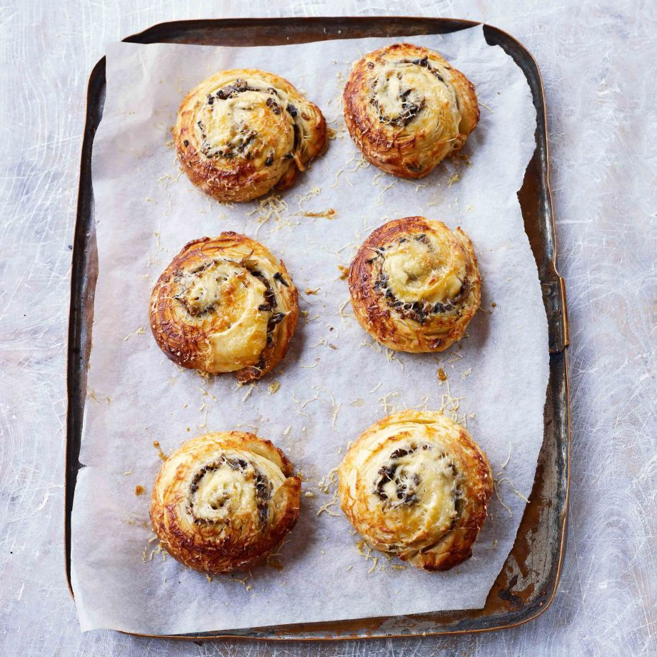 Paul Hollywood's Emmenthal, Onion and Mushroom Pastries Recipe