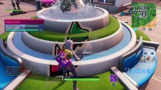Where to Spray a Fountain, a Junkyard Crane, and a Vending Machine in Fortnite