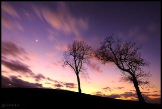 Jupiter and Venus Over West Chester, Pennsylvania.