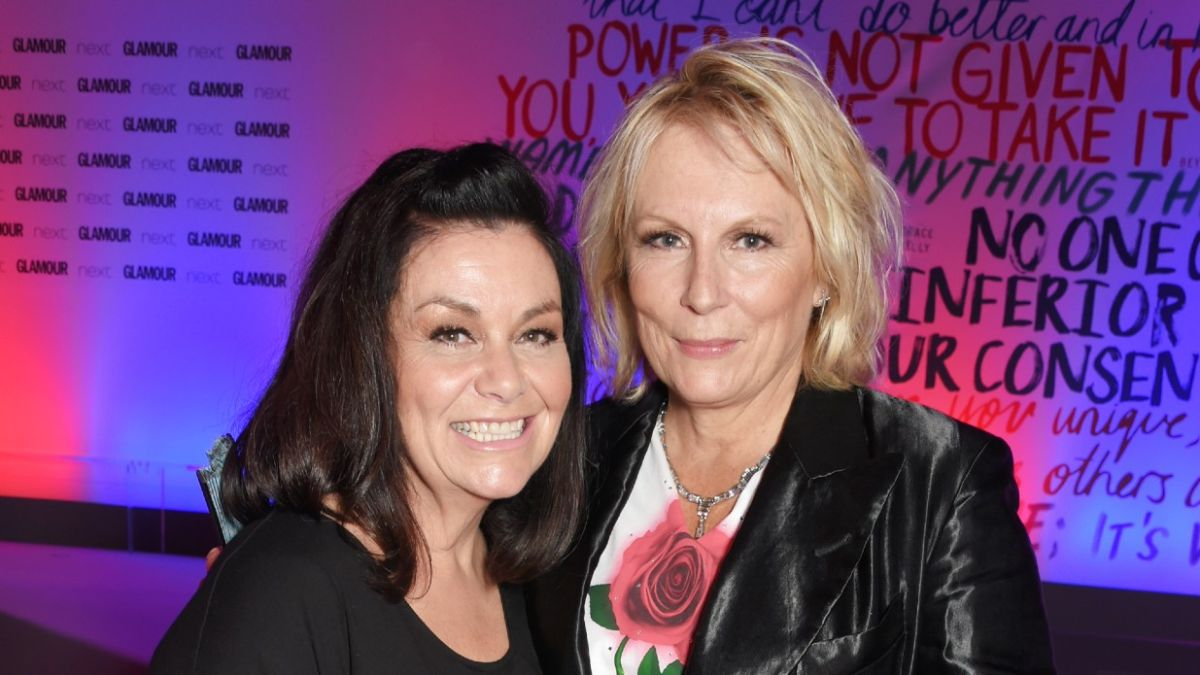 Dawn French 'punches' Jennifer Saunders in hilarious sketch as inner tensions are aired