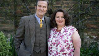 Bradley Walsh and Joanna Scanlan as Pop and Ma Larkin