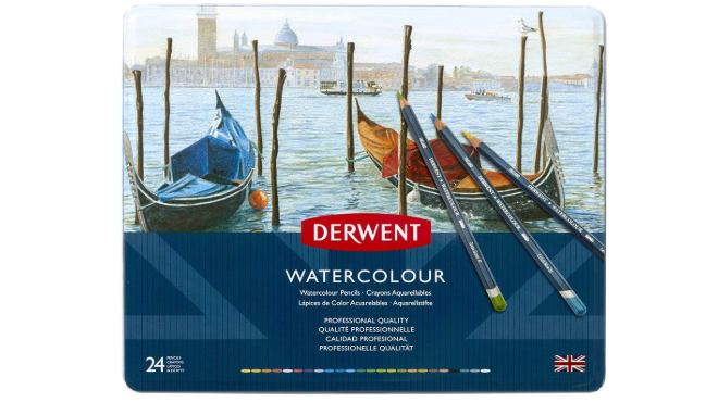 Watercolour Pencils: set of Derwent Watercolour Pencils