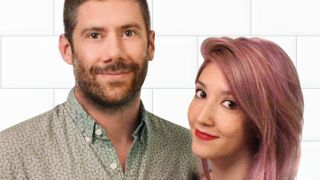 A promotional picture for TV show Sight Unseen, showing Wes Borland and his fiancee Carre Callaway