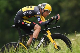 FRAUENFELD SWITZERLAND JUNE 06 Tom Dumoulin of Netherlands and Team Jumbo Visma during the 84th Tour de Suisse 2021 Stage 1 a 109km Individual Time Trial from Frauenfeld to Frauenfeld UCIworldtour tds tourdesuisse on June 06 2021 in Frauenfeld Switzerland Photo by Tim de WaeleGetty Images
