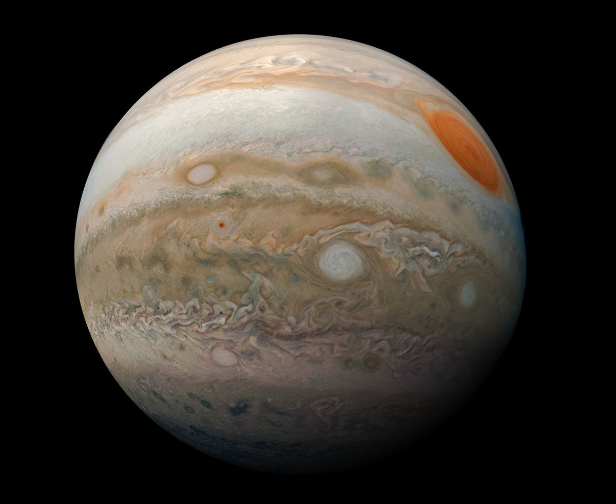 Behold! Jupiter Is a Breathtaking 'Marble' in This NASA Juno Photo