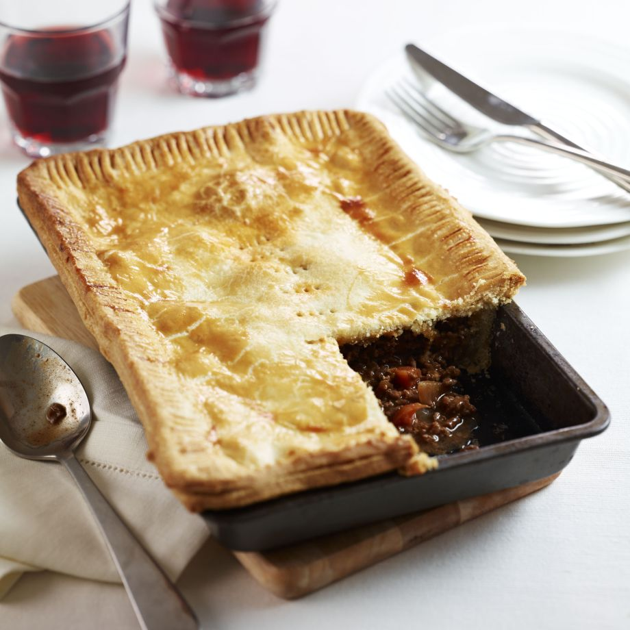 Traditional Meat And Onion Pie