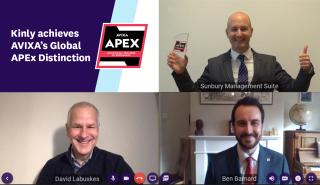 Kinly achieves AVIXA Global APEx Distinction