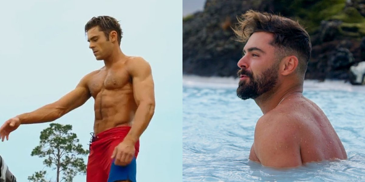 Zac Efron's body transformation and dad bod in Netflix's Down to Earth