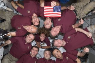 10 astronauts of NASA's shuttle Atlantis and Space Station on final shuttle flight