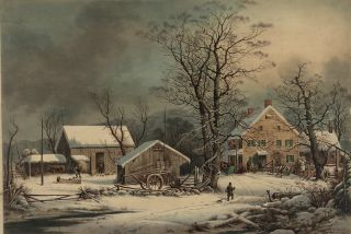 "George Henry Durrie's ""Winter in the Country: A Cold Morning."""