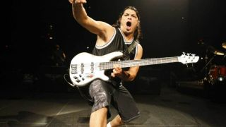 Robert Trujillo onstage at Madison Square Garden