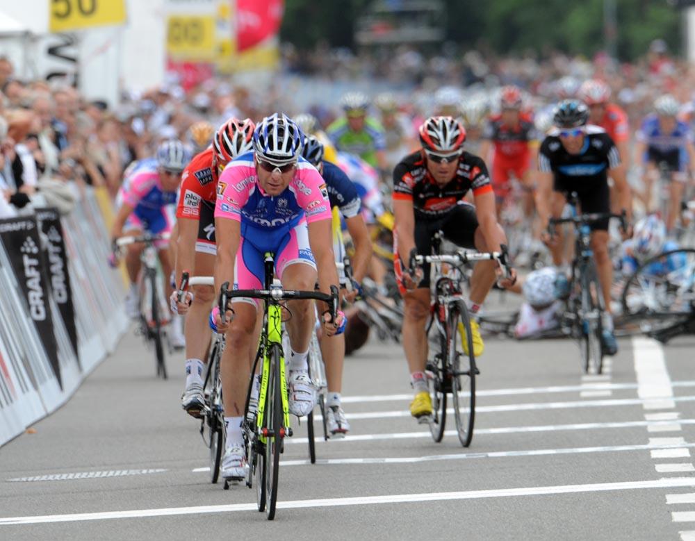 Alessandro Petacchi wins, Tour de Suisse 2010, stage 4