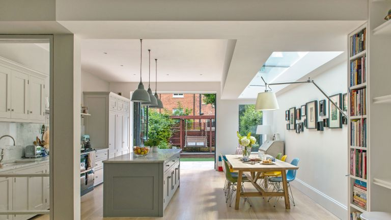 large contemporary kitchen extension photographed by polly eltes