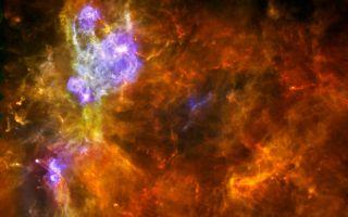 Massive Molecular Cloud space wallpaper