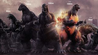 Godzilla's girth and height have changed over the 35 films he's terrorized.