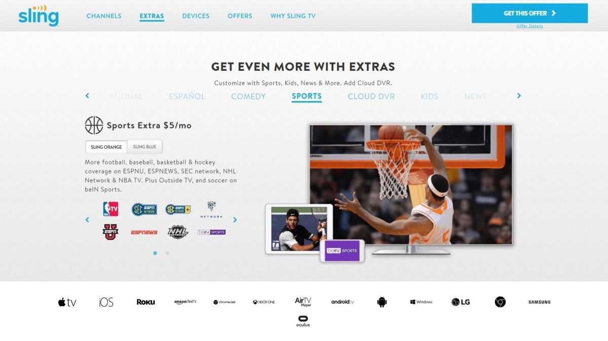The best sports streaming sites and services for cord