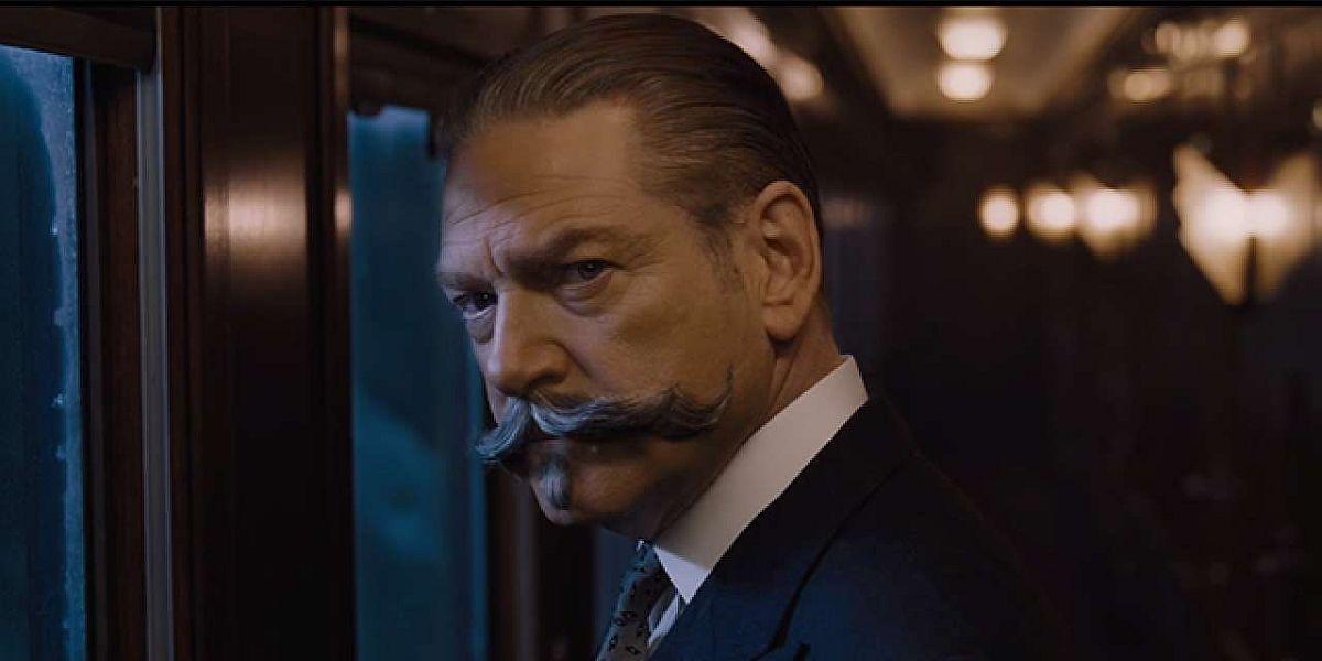 Kenneth Branagh as Hercule Poirot in Murder on the Orient Express