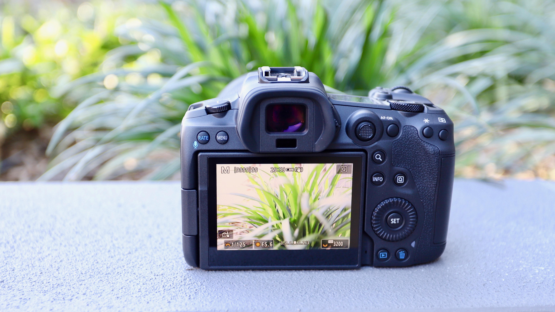 Canon EOS R5 rear screen and controls