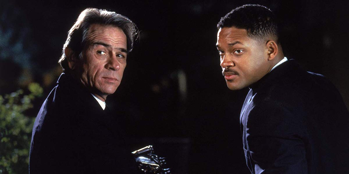 Tommy Lee Jones and Will Smith as Agent Kay and Jay in Men in Black
