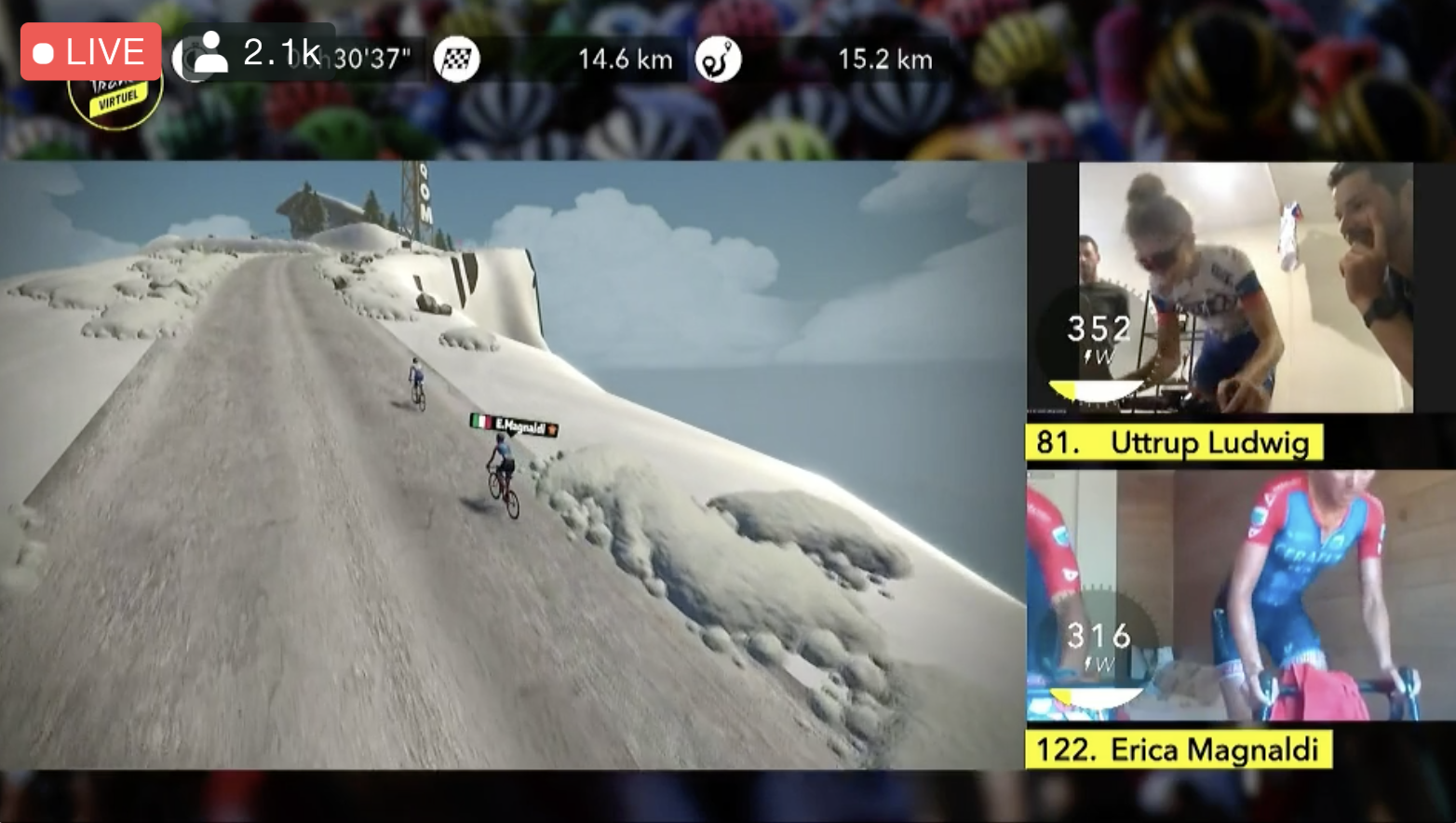 Virtual Tour de France stage 2