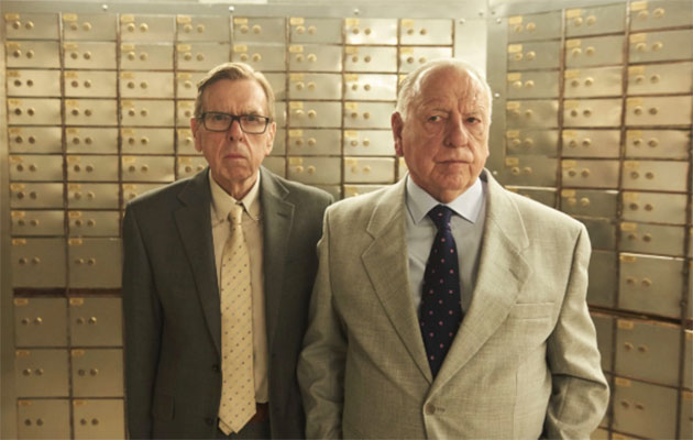 Timothy Spall (left) stars alongside Kenneth Cranham as members of a criminal gang in ITV drama Hatton Garden