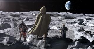 A screenshot of Destiny 2 guardians on the moon.