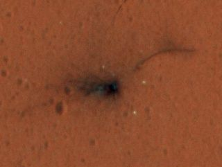 ExoMars Lander Crash Site in Color: Crater