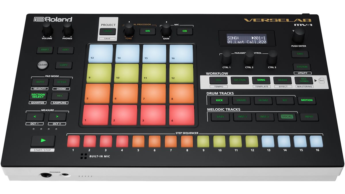 Roland's Verselab MV-1 is a standalone music production studio for creating complete songs