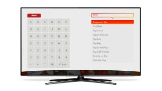 Freeview Play's search interface brings together content from live channels and catch-up services