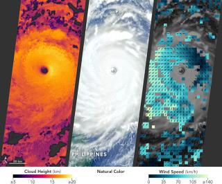 Super typhoon Nepartak MISR NASA