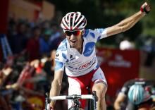 Daniel Moreno (Katusha) won the second Vuelta stage of his career in Fisterra