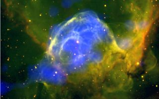 Thor's Helmet Nebula Glows Brightly