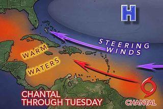hurricanes, tropical storm Chantal