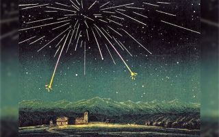 1872 Andromedid meteor shower over France