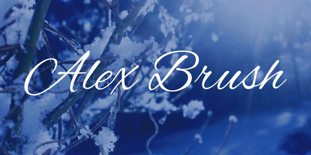 Script font: Alex Brush