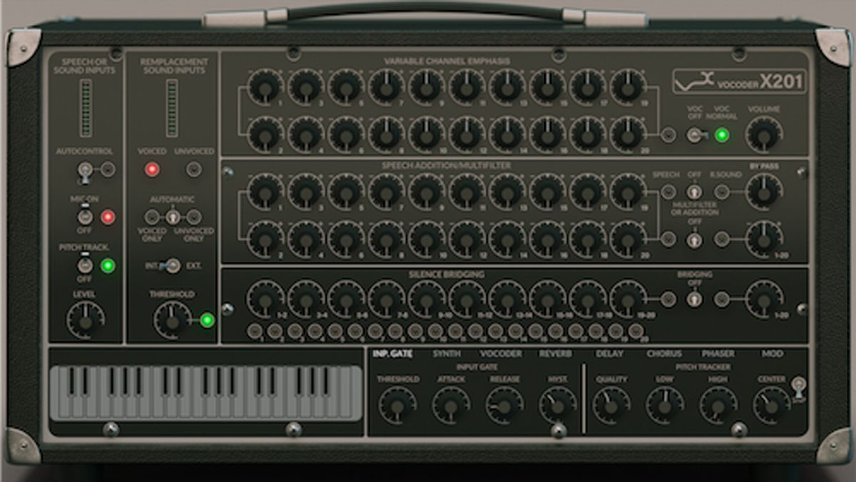 Get Daft Punk and Herbie Hancock's vocoder of choice with the X201 plugin