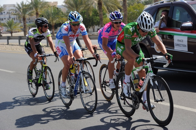 Mark Cassidy, escape, Tour of Oman 2011, stage two