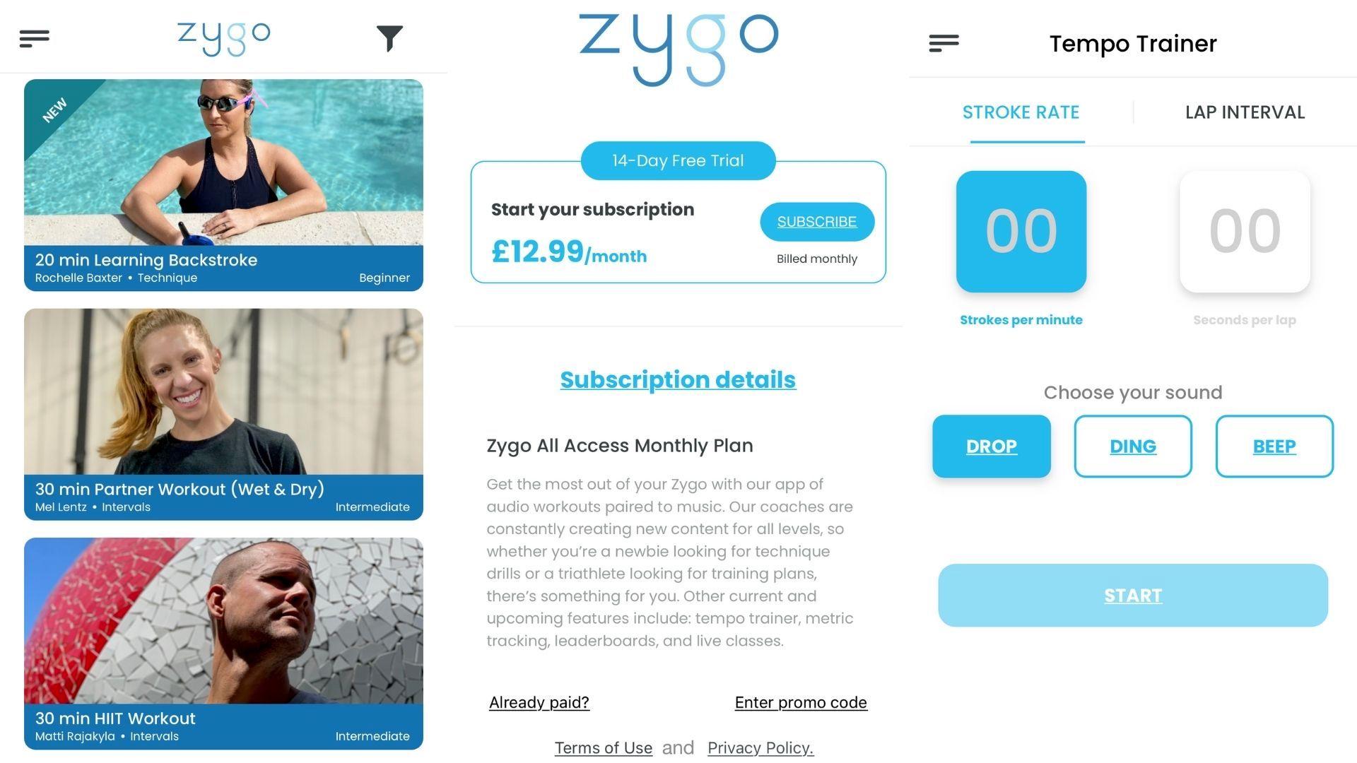 Zygo Solo app screenshots