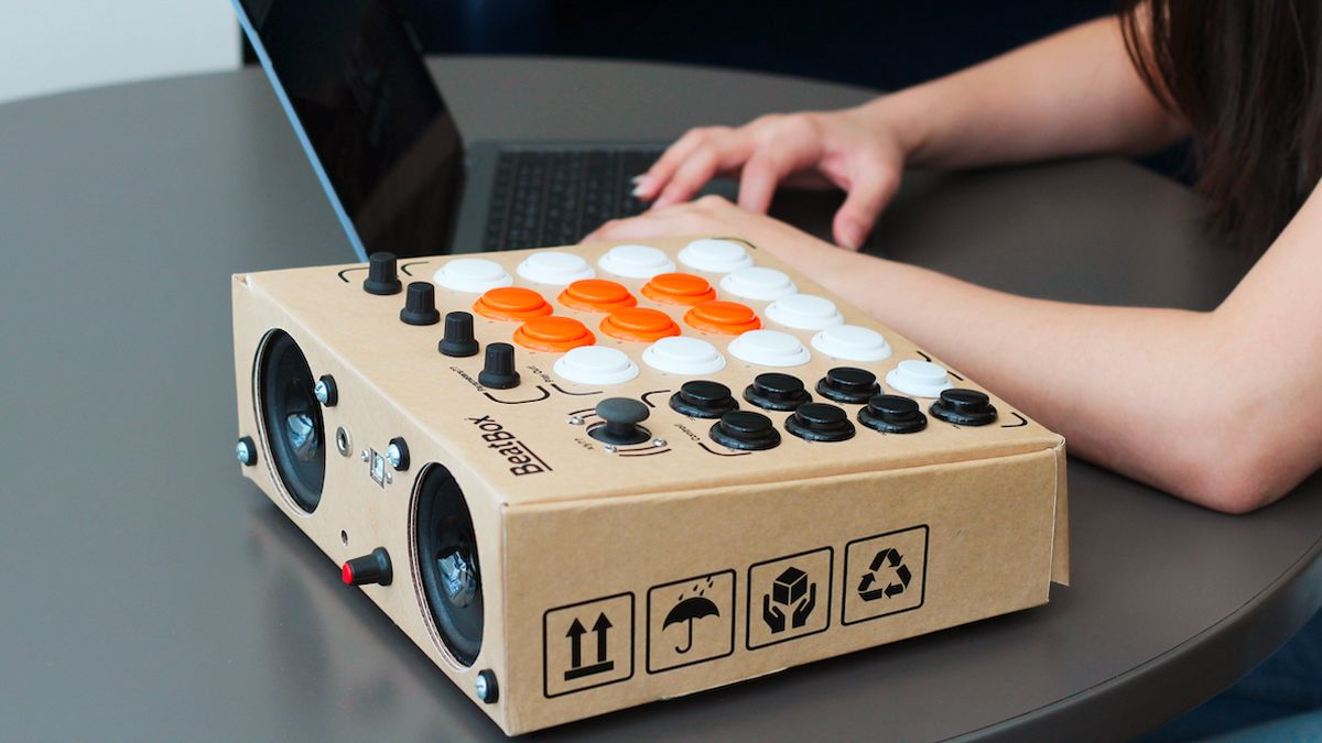 beatbox is a cardboard drum machine that you can build in under an hour musicradar. Black Bedroom Furniture Sets. Home Design Ideas