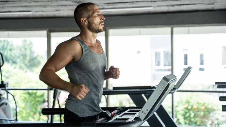 Man doing a treadmill workout